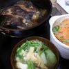 カレイ煮付け、春雨切り干しサラダ、味噌汁