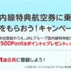 国内線特典航空券に乗って500Pontaポイントをもらおう!キャンペーン