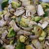 鶏肉とブロッコリーの塩昆布炒め