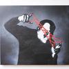 岡本太郎をモチーフに絵を描きました
