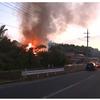 火事映像!鳥取県米子市別所で住宅火災!こばやし農園付近で火事