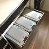 【食器棚の選び方】キッチンに置くゴミ箱の置き場を確保する。