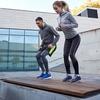 プライオメトリックトレーニングにおける筋力向上(筋が短縮する直前に伸張すると、伸張反射により短縮パワーが増大するという科学的根拠に基いてプログラムが作成される)