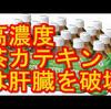 どっちが正解?茶カテキンは①体脂肪を減らす、②肝臓に悪い。