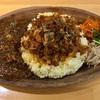 🚩外食日記(860)    宮崎ランチ  🆕「ヤマギシパーキング」より、【2種盛り:オリジナルヤマパーカレー(豚ハラミカレー)&鶏豚ドライキーマカレー】‼️
