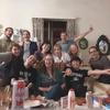 やっと、地元民と日本食パーティーしました!