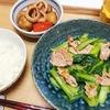 小松菜と豚肉のにんにく塩炒め