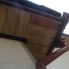 大屋根軒裏の化粧べニアが剥がれた