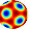 球面調和関数で正20面体をつくる