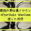 2021版|おすすめのBluetoothで骨伝導のイヤホン(AfterShokz OpenComm)