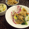 彩り冬野菜の胡麻味噌マヨネーズがけ