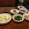 夕食は韓国料理