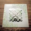 あじさい折り×ボタニカルの「花折りピラミッド」。/Flower Pyramid with botanical pattern