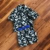 子供用アロハシャツのセットアップを作りました~参考パターン「Check&Stripe Standard」子供用ネル素材パジャマ