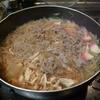 幸運な病のレシピ( 1848 )朝:朝から牛丼(糸コンかまぼこ入り)、味噌汁、マユのご飯