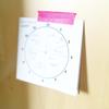 時間管理の為にアナログ時計に書いてみました