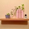 【トイレの小棚】小さな空間で楽しむ北欧インテリア*4月は新緑と桜色で