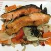和平フレイズグリルパンで油を使わず簡単な、鮭の蒸し焼き
