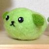 毛糸+アクリルフェルトで豆しばをつくりました(^∀^*)