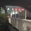 新川の大通り、深夜の永代橋を散策しました