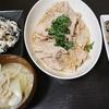 豚肉大根おろし煮、白和え、卯の花、味噌汁