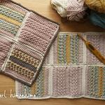 miroom(ミルーム)で平編みのコースターの動画公開!|ダウンロード編み図にかぎ編み作品ノート付けてます!