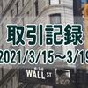 2021/3/15週の米国株オプション取引(確定利益$1,606、含み損$-9,973)