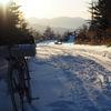 冬の八ヶ岳で自転車とハイク (本沢温泉 / 硫黄岳)