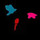 赤とマゼンタとビリジアン