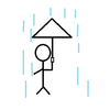 日記 傘の隙間問題について真剣に考えてみた。