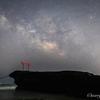 【天体撮影記 第48夜】 静岡県 伊豆半島 白浜の鳥居と夏の天の川