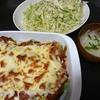 ブロッコリーチーズ焼き、レタスサラダ、味噌汁、切り干しサラダ