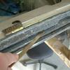 1971 マスタングマッハ1 リヤウインドウビームの錆落とし1