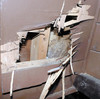 クマがバンガロー壁壊し屋根破る?オープン延期
