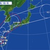 猛烈な台風18号が北上…最大瞬間風速は80m
