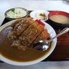 茨城の最後はこちらのカツカレーでしょう。 @石岡 むつみ食堂