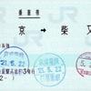 本日の使用切符:JR東日本 東京駅発行 東京→柴又 乗車券
