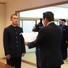 新庄高校硬式野球部へ、北広島町長から感謝状が贈られました。
