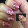 セルフネイル「桜のネイルシールとスタッズ」の施し法