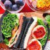麻炭パウダーでデトックス炭パン【生ハムと無花果のサンドイッチ】(動画有)