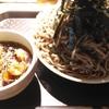 【神田】神田 つけ蕎麦 わびすけ:冷あげ入りつけそば(きつね)(680円)
