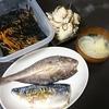 焼魚、大根酢の物、ひじき、味噌汁