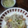 野菜炒めとえのきとネギのスープ