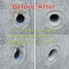 擁壁工事現場から、型に生コンが届いてなかった箇所などのモルタル補修色合わせ塗装のご依頼