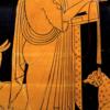 アポローン(4) デロス島での誕生2 エイレイチュイアがデーロスに歩みを向け始めるやすぐに,分娩は始まった.子供が光の中へ跳びでてくるや,女神たちはいっせいにどっと声を挙げた.テミスが,ネクタルと美わしきアンブロシアとを不死なる手でふくませた.  レートーよ,喜びたまえ,弓もつ力勝った子供をあなたは産んだのだから.ポイボス・アポローンは女神たちにこう言った.「竪琴と曲がった弓は,今後,私が司る.それにゼウスの誤謬なき考えを,私は人間どもに予言しよう」