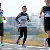 先頭通過から47分後くらいまで:37km過ぎ@おかやまマラソン2016(13日)