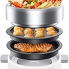 一人暮らしに鍋、焼肉、たこ焼きが作れて CalmDo 3-in-1ホットプレート 多機能鍋が便利