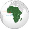 アフリカの赤黄緑+黒の国旗