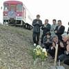 北条線列車脱線転覆事故の慰霊碑建立