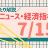 【2019.7.15(月)】今日のFXニュース~経済指標や材料など~【FX初心者さん向けに解説】